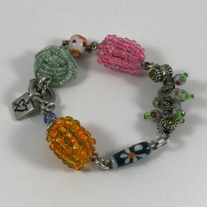 Vintage Lampwork Bracelet, Vintage Jewelry